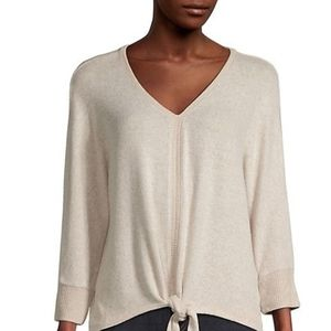 Style & Co tie front lightweight sweater petite